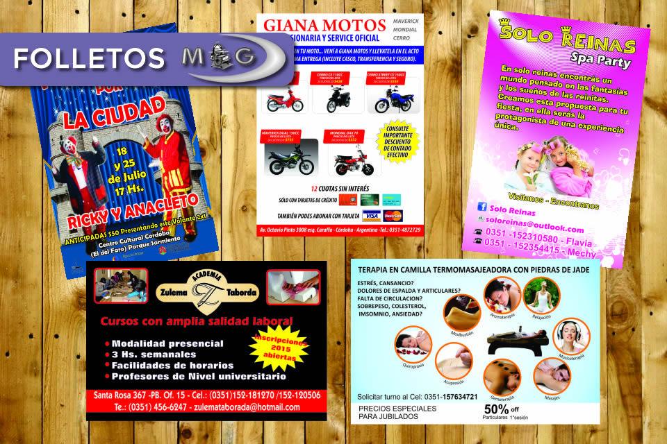 folletos economicos, impresos cordoba
